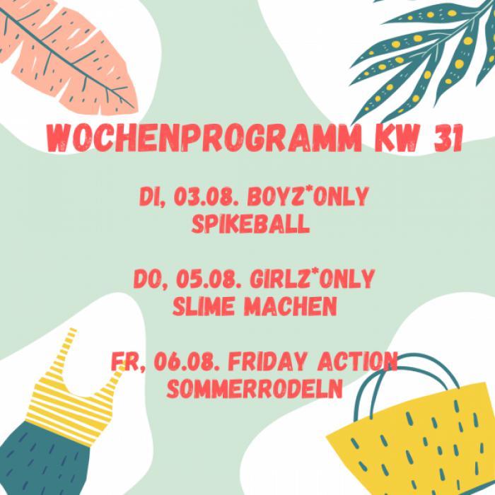 Wochenprogramm KW 31